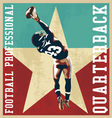 ouaterback football vector image