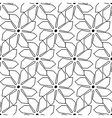 Black and white seamless pattern with line vector image