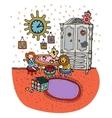 Baby girl cartoon room interior design vector image