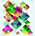 abstract technology background vith falling vector image