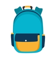 backpack bag school vector image
