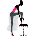 Ballet dancer dressing vector image