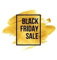 Black Friday Designs on gold blob vector image