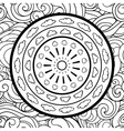 Clouds and mandala seamless pattern vector image