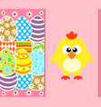 easter background card with eggs and funny vector image