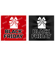 gift box icons black friday in black and red color vector image