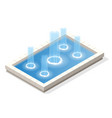 isometric fountain water spout spray in basin vector image