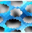 Sky pattern in pixel style vector image