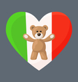 Italian Teddy Bears vector image