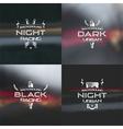 Dark racing urban blurred background vector image