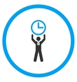 Time Champion Circled Icon vector image