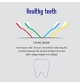 Healthy teeth background with text teeth and vector image