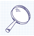 Magnifier glass vector image vector image