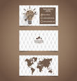 Abstract creative business card template vector image