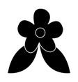 flower leaves spring nature decoration pictogram vector image
