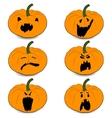 halloweens pumpkin set icons vector image