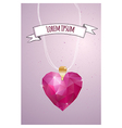 Happy Valentines Day card Polygonal heart vector image