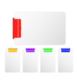 Modern visual banner design template vector image