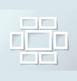 photo frame collection realistic vector image