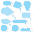 Speech bubble stickers vector image