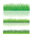 The Green Grass Set vector image