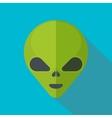 Green cartoon aliens head isolated vector image