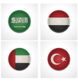Flags of countries as fabric badges vector image vector image