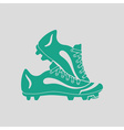 Baseball boot icon vector image
