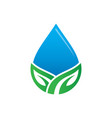 waterdrop leaf nature logo image vector image vector image