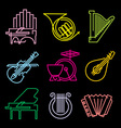 symbols musical instruments vector image