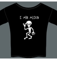 Cute little extraterrestrial alien on a t-shirt vector image