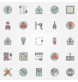 Electricity colorful icons vector image