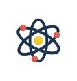 Atom molecule isolated vector image