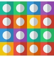 Background with circles in flat icon style vector image