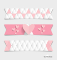 Cute note paper with hearts vector image