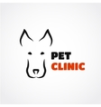 Dog silhouette logo vector image