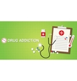 drug addication concept with pills and medicine vector image