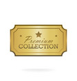 exclusive collection sale golden badge gold label vector image