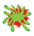 isolated comic splash vector image