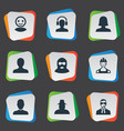 set of simple member icons vector image