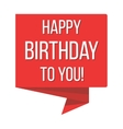 Happy birthday red banner vector image