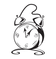 Black and white contour clock vector image