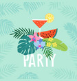 hand drawn summer party greeting card invitation vector image vector image