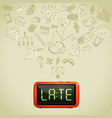 business lateness concept vector image