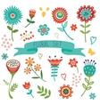 Floral decorative elements set vector image vector image