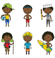 African-American summer boys vector image vector image