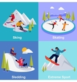 Active Winter Vacation Extreme Sports vector image