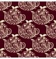 Seamless Floral Teapot Pattern vector image