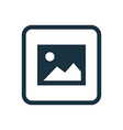 blank photo icon Rounded squares button vector image