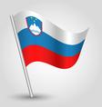 flag slovenia vector image